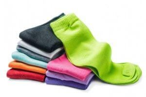 様々な素材の靴下