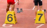 陸上100mの中学・高校男女別の平均タイム