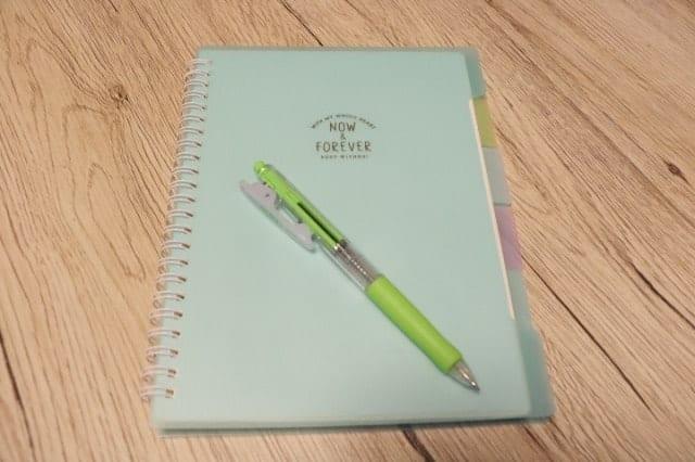 ノートで練習日誌をつける