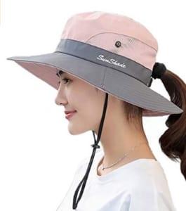 ツバ広めのウォーキング帽子(レディース)