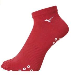 ミズノの陸上用5本指靴下