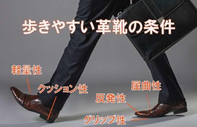 歩きやすい革靴の条件