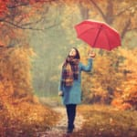 雨の日のウォーキング