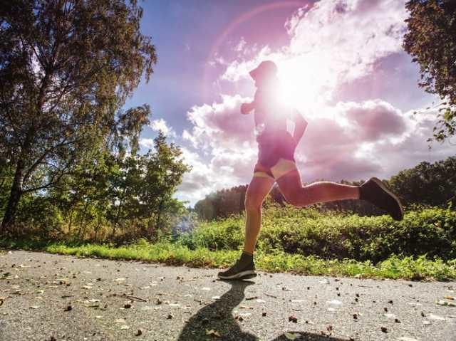マラソントレーニングをするランナー