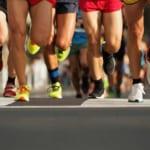 マラソンを走るランナー達