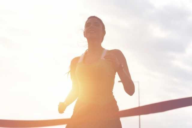 マラソンを完走するランナー