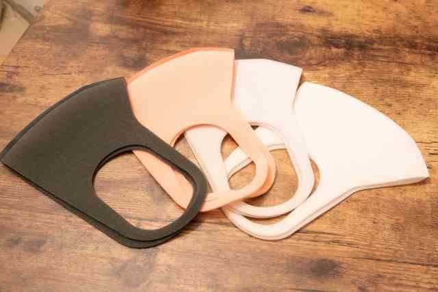 数種類のマスク