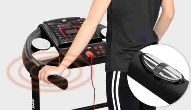 ルームランナーの心拍数測定機能