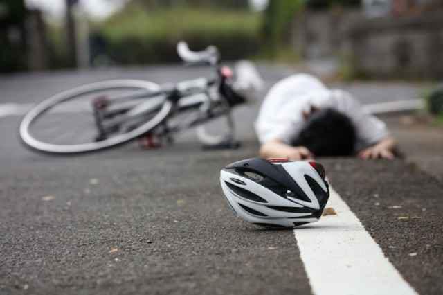 自転車での転倒事故